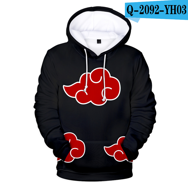 Naruto 3D Aikooki Hot sale Hoodies Men Women Casual Autumn Sweatshirts Fashion Hooded Anime Naruto 3D Hoodies Mens Clothing XXS