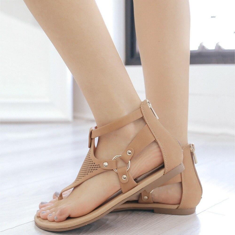 Plus Size Fashion Flip Flops Women Sandals Gladiator Beach Flat Sandals Leisure Female Ladies Footwear Summer Women Shoes ADG60 in Women 39 s Sandals from Shoes