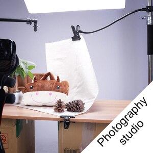 Image 5 - Soporte de fondo abrazadera C Clip foto de cámara accesorio de estudio soporte de luz Flex Reflector con brazo foto Camara fotográfica
