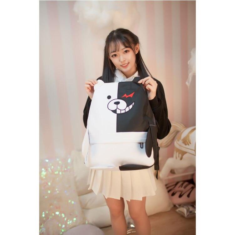 Top Anime Danganronpa cos monokuma Image printing cute cartoon Backpacks birthday present Shoulders schoolbag стоимость