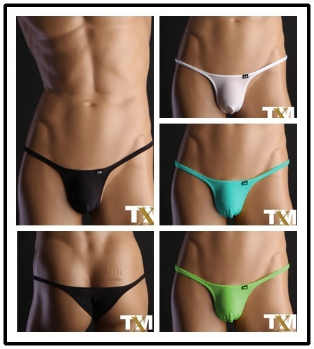 TM mens sexy bikini briefs underwear gay man underwear tight half back briefs nylon thin seamless erotic gay men underwear