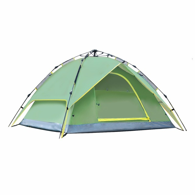 Waterproof 3-4 Person 210*210*150cm Double layer Automatic Instant Outdoor Camping Tent Hot Sale