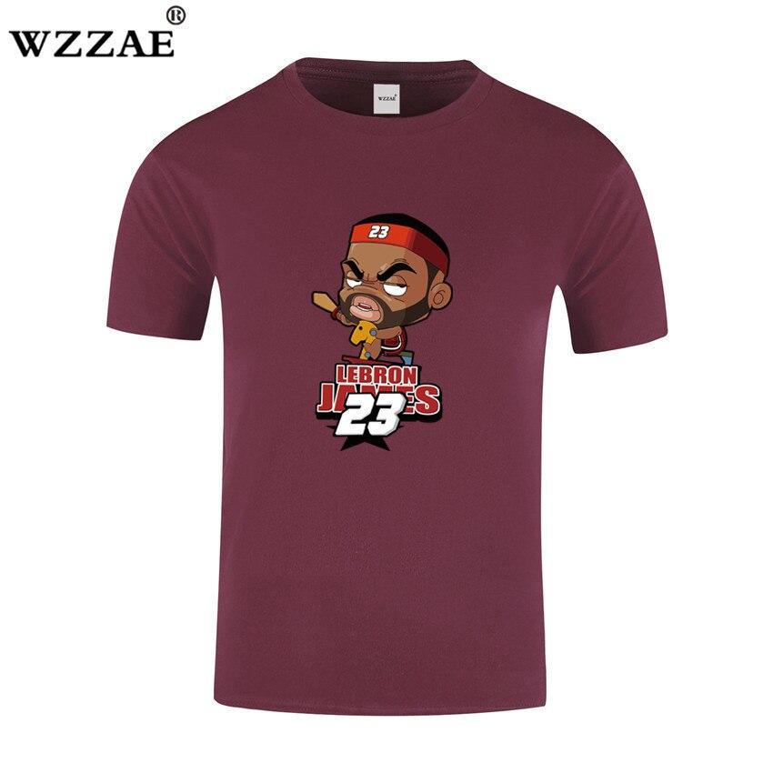 LeBron James Print T shirt 2017 Summer Brand Funny Cartoon design Men t-shirt Man Casual Short Sleeve T shirts Plus Size S-XXL patterson james i funny