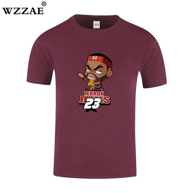 da288701c800 LeBron James Print T shirt 2017 Summer Brand Funny Cartoon design Men t- shirt Man Casual Short Sleeve T shirts Plus Size S-XXL