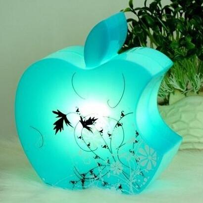 A apple Forma Desk Table Lamp Light Adorável Romântico a luz da noite Criativo Presente para Criança Frete Grátis