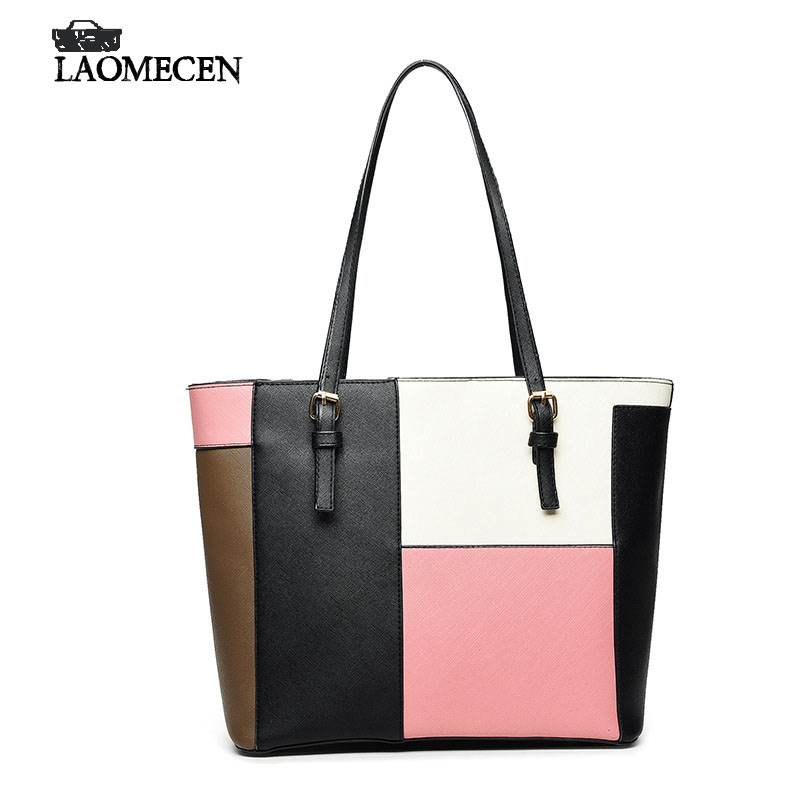 New Fashion Women Pu Leather Handbag Luxury Famous Designer Bags Quality Casual Patchwork Shoulder Bag Large Satchel Tote Sac рюкзак step by step junior dressy excavator blue yellow 129121