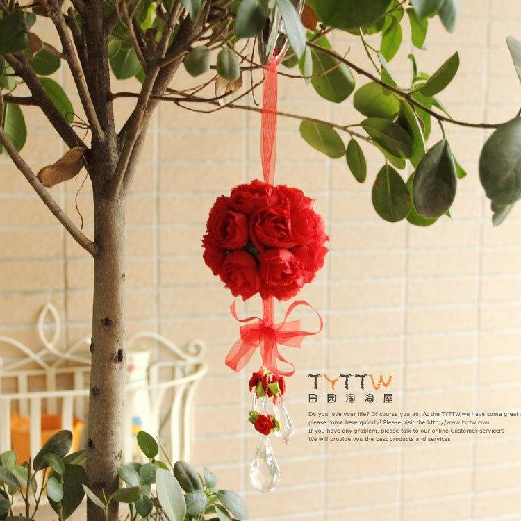 Korean Flower Rose Ball Wedding Princess Room Style Silk Flower