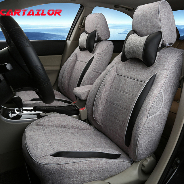 CARTAILOR Car Seats For Peugeot 206 Cc Seat Covers Supports Full Set Linen Cloth