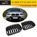 Grill für BMW E70 X5 PP Matt Black Frontschürze Mesh Grille 2007-2012