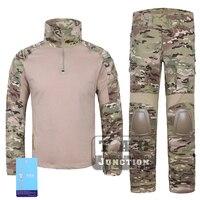 Emerson G2 Combat Shirt & Pants Tops+Trousers w/ Elbow & Knee Pads Set Tactical Military Airsoft EmersonGear GEN 2 BDU Uniform