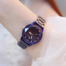 New Lady Watch Women Diamond Dress Watches Fashion Steel Purple Woman Wristwatches Elegant Blue Clock reloj mujer