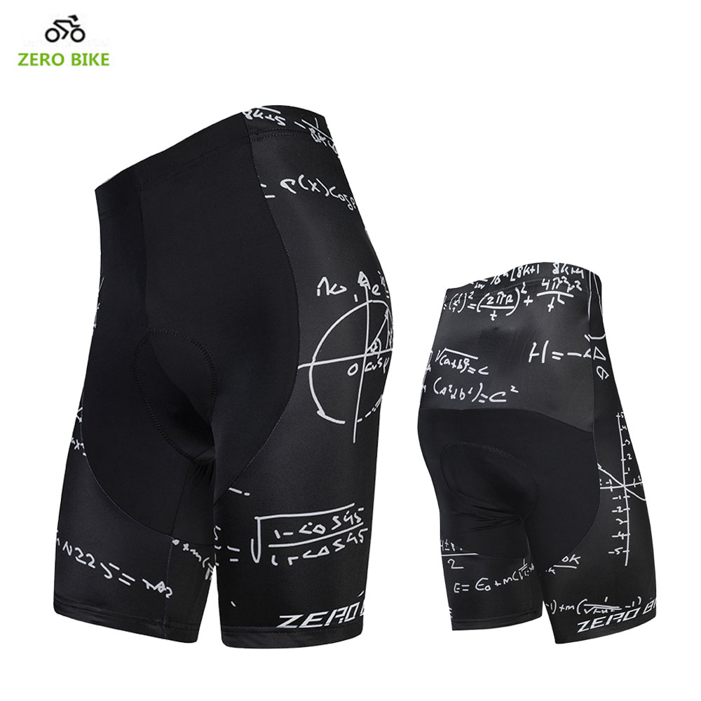 ZERO BIKE New Arrival Summer Breathable Black Cycling Shorts For Men 4D GEL Padded Tight Bicycle Shorts Ciclismo