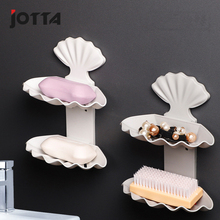 Creative asphalt soap box without perforation double bathroom toilet personality portable shell shelving