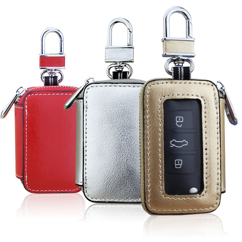 CICICUFF 2019 New Men/Women Leather Car Key Holder Wallets Fashion Key Organizer Housekeeper Car Key Case Pouch