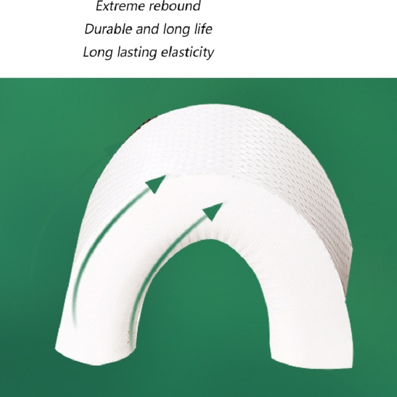 Wave Natural Latex Neck Rest Pillow Protection Slow Rebound Relieve Neck Pain Health Cervical Neck Bedding Pillow in Body Pillows from Home Garden