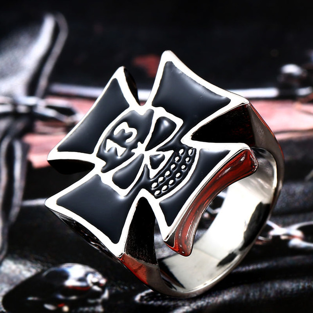 Lucky13 Factory Price 316L Stainless Titanium Steel Cross
