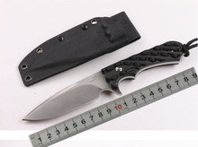 Small straight knife 7CR17MOV steel matte surface black non-slip handle sheath Survival tool Camping equipment