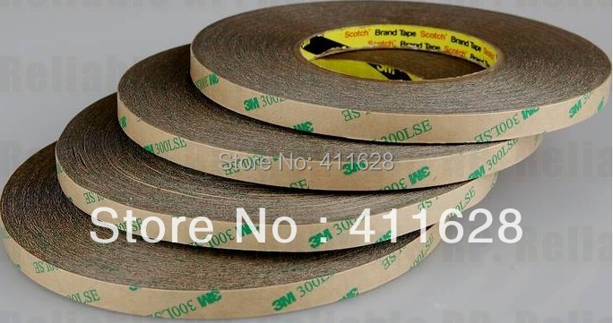 PROMOTION 5x 6mm*55M 3M 300LSE Super Adhesion Clear 2 Faces Sticky Tape for phone LCD Touch Frame Digitzer Repair