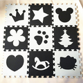 Desenvolvimento suave infantil rastejando tapetes, jogo do bebê número puzzle/carta eva foam mat bege & pad café piso para jogos de bebê