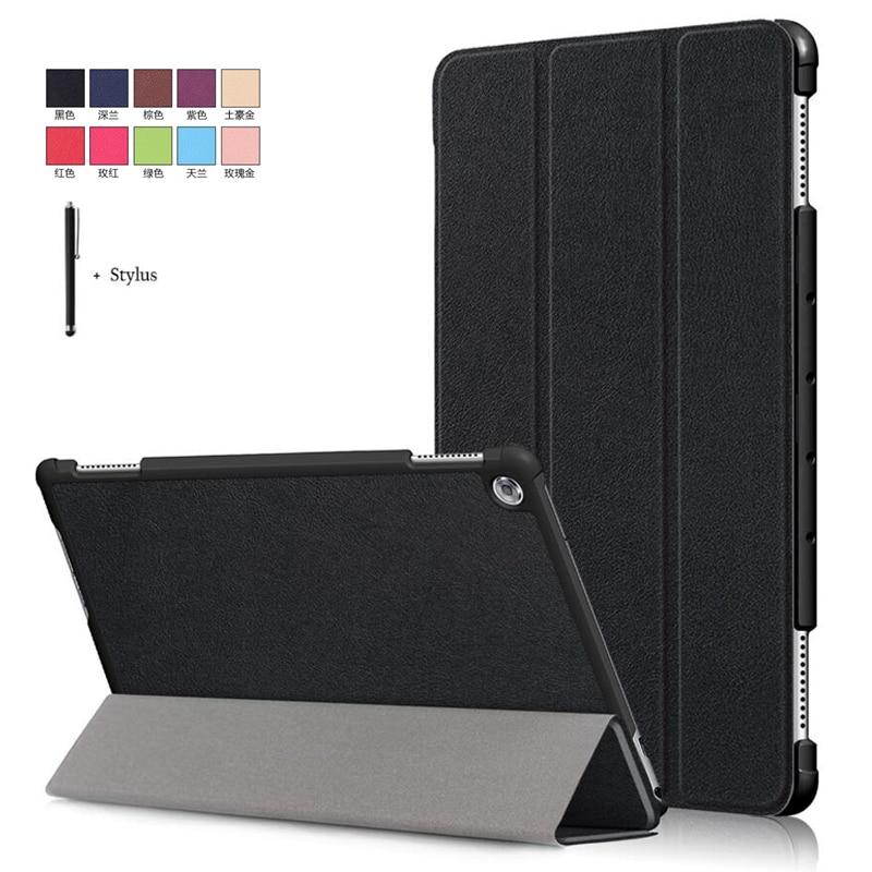 Чехол для Huawei MediaPad M5 lite 10 BAH2 W19/L09 10,1 чехол для Huawei M5 Lite 10 Wake Sleep Flip кожаный чехол с подставкой + стилусЧехлы для планшетов и электронных книг   -