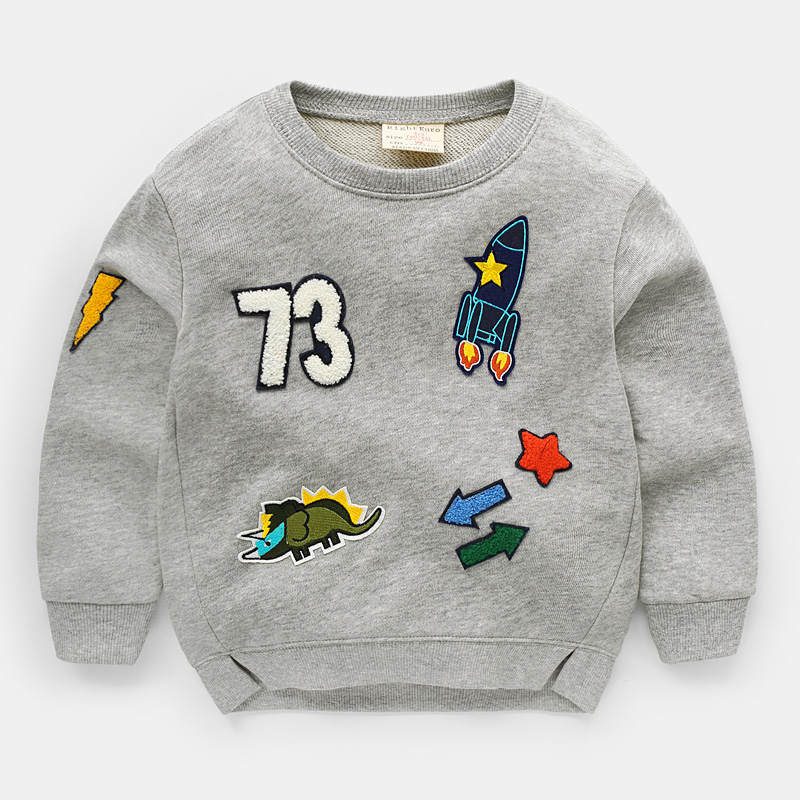 2018 spring boys 100% cotton casual clothes children long sleeve jersey kids sweatshirt top cartoon sportsware leisure tracksuit