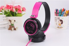 Kids Cute Headphones Headset with Microphone, Hello Kitty Cartoon Headphones for Children Girls, Perfect Sound for iPhone