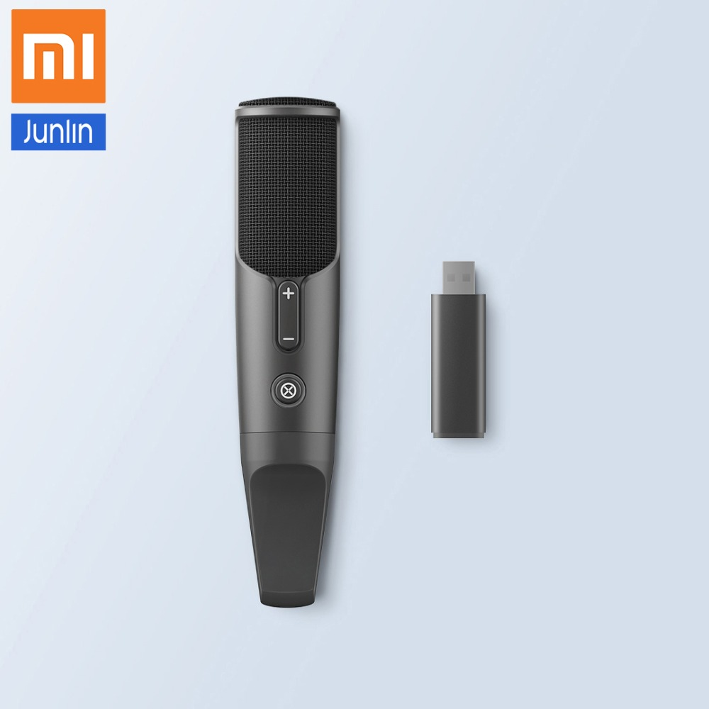 Xiaomi JUNLIN il Canto del Microfono di Registrazione Intelligente Senza Fili di Monitoraggio Microfono A Condensatore per la TV, karaoke, Del Telefono MobileXiaomi JUNLIN il Canto del Microfono di Registrazione Intelligente Senza Fili di Monitoraggio Microfono A Condensatore per la TV, karaoke, Del Telefono Mobile