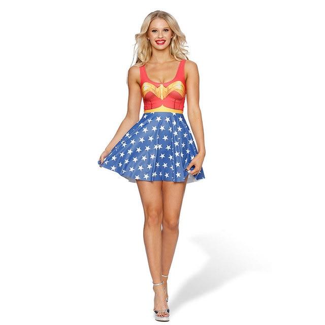 Summer Style Maxi Dresses Women Beach Long 3D Batman Print Dress Casual Loose Sleeveless Office Dress