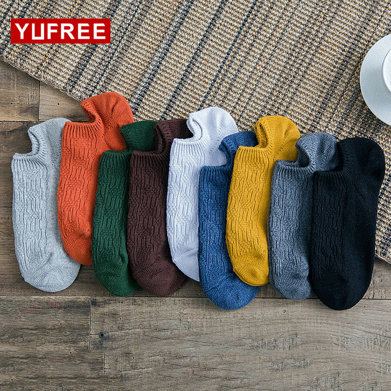 5 Pairs/Lot Fashion Casual Man Socks Cotton High Quality Solid Women Striped Socks Spring Summer Men No Show Sock