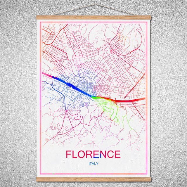 Hot sale with frame world map of florence wall art craft sticker hot sale with frame world map of florence wall art craft sticker poster customized pattern kraft gumiabroncs Images