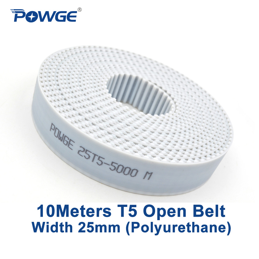 T5 Open Pu Timing Belt With Steel Core Pulley Polyurethane Belts 16mm Wdth