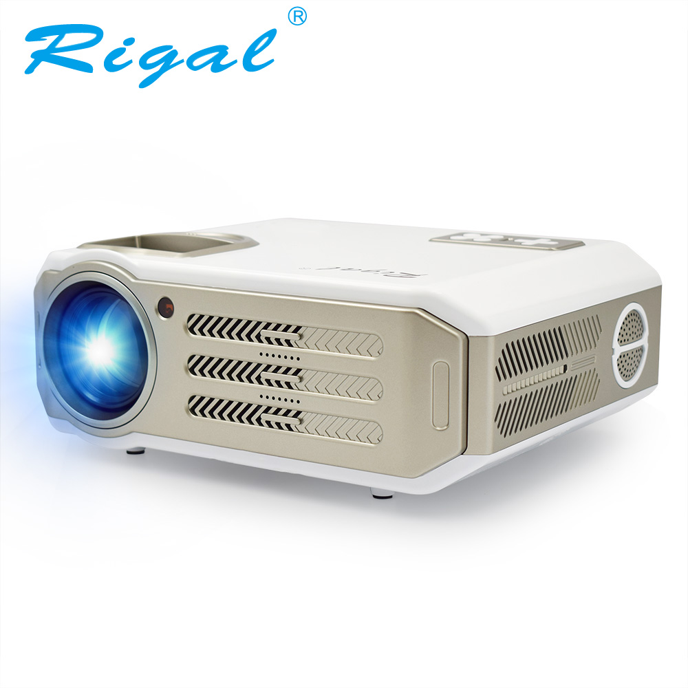 Rigal RD817 Projector Android 6.0 WiFi Full HD 1080P LED LCD Projector 3500 Lumens TV Video HDMI 3D Projetor Beamer Pick Screen wzatco 5500lumen android smart wifi 1080p full hd led lcd 3d video dvbt tv projector portable multimedia home cinema beamer
