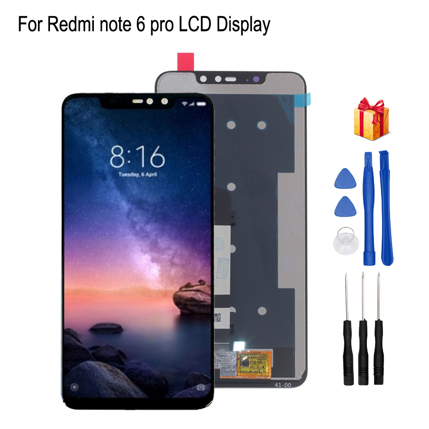 Original For Xiaomi <font><b>Redmi</b></font> <font><b>Note</b></font> 6 <font><b>Pro</b></font> <font><b>LCD</b></font> Display Touch Screen Digitizer For <font><b>Redmi</b></font> <font><b>Note</b></font> 6 <font><b>Pro</b></font> Display Screen Assembly Phone Parts image