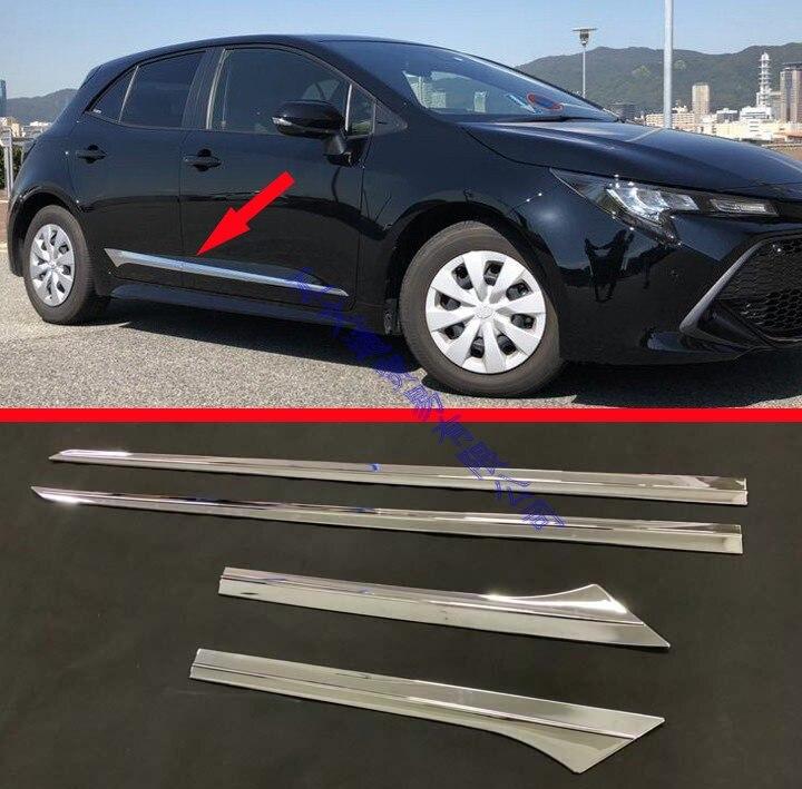 Pour 2019 Toyota Corolla E210 hayon Sport Auris ABS Chrome ligne de porte latérale garniture corps moulure de garnissage couvercle