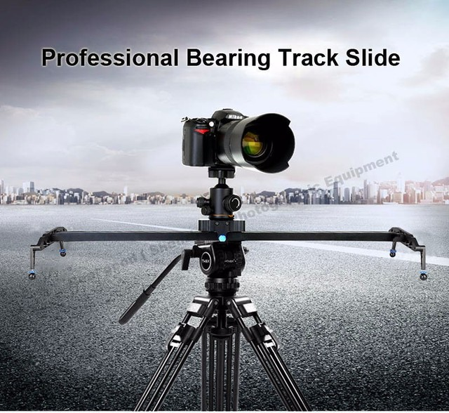 """Smooth 60cm/24"""" Ball Bearing DSLR Camera Slider Dolly Track Video Stabilizer for Canon Nikon Sony DSLR Camcorder Up to 17.7lbs"""