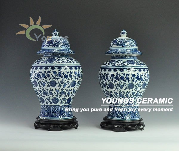 Artistic Decorative Big Size Ceramic Ginger Jar Bottle