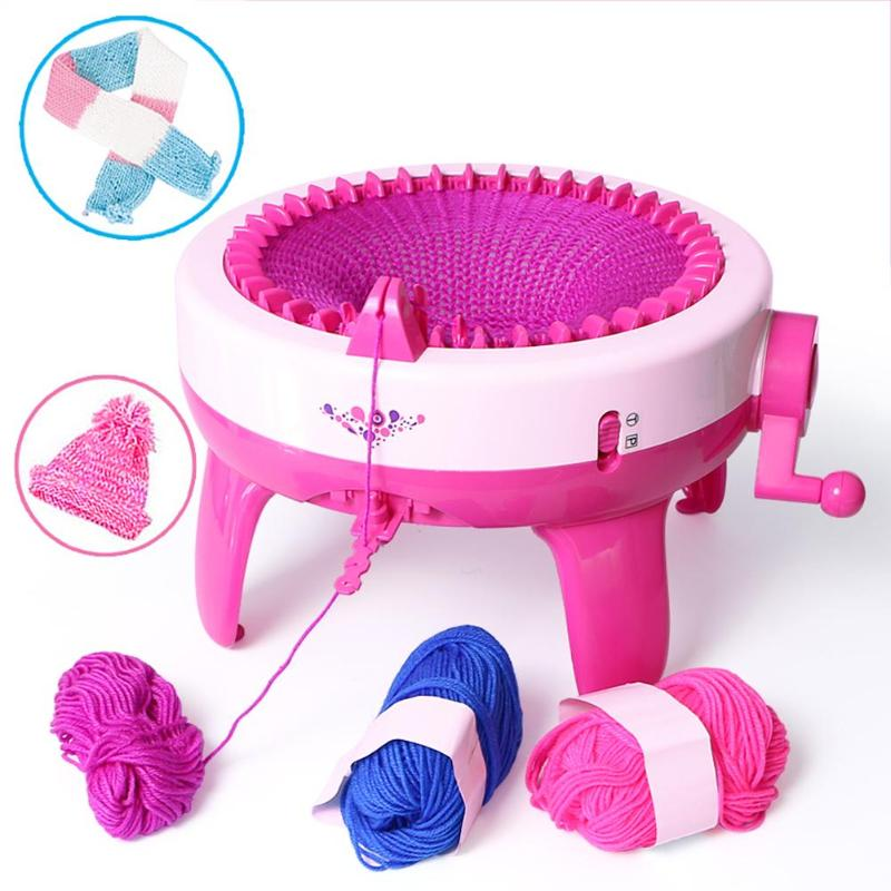 40 aiguille bricolage Positions Grand Main Machine À Tricoter métier à tisser tricot pour Artisanat Chapeau Enfants Apprentissage Éducatif jouet d'enfant