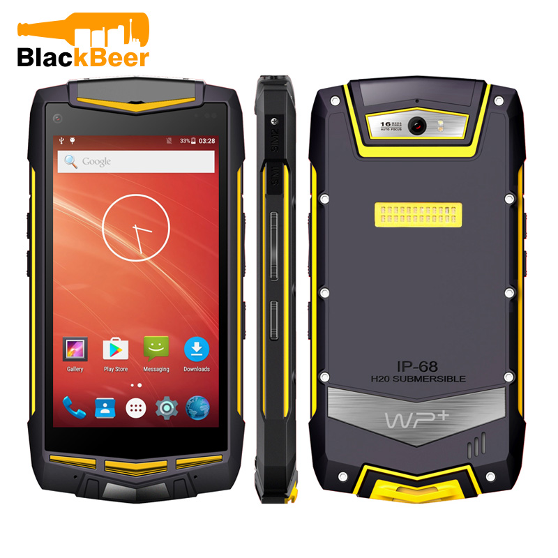 UNIWA V1H 5.0 Inch 4G LTE Mobile Phone Waterproof Android Rugged Outdoor Smartphone Dual SIM 2G 16GB Quad Android 5.1 Cellphone