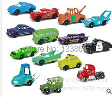Wholesale for 50 sets NEW 14 PCS per set little cars Figures christmas gift new year