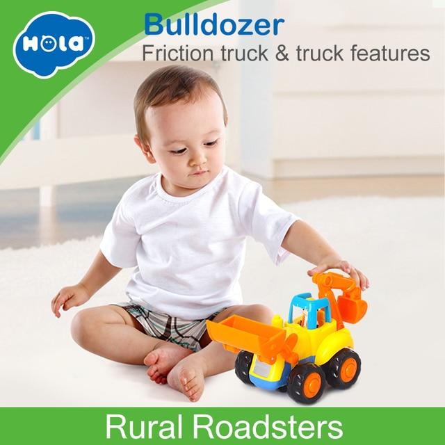 1 PC Huile Mainan 326A Bayi Baru Mobil Truk Mainan Anak-anak Mainan untuk Anak-anak Kecil Menarik Kembali Bulldozer Truk Mainan anak Laki-laki Brinquedos Juguetes