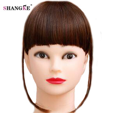 SHANGKE Short Blunt Heat Resistant Synthetic Natural Tidy Fake Bangs Clip  In Hair 828efde14a2