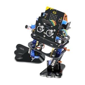 Image 2 - Elecrow マイクロ: ビットプログラマブルダンス DIY ロボット二足歩行人型サーボロボットマイクロビットプログラミング学習キット子供のための