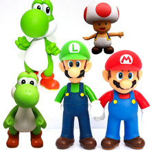 Super Mario Bros Luigi Figure Yoshi Odyssey Mushroom Troopa Action Figures Toy Model Dolls Kids Gifts цена 2017