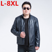 2017 new plus size 5XL 6XL 7XL 8XL big man   leather and autumn coat men The brand of high qualitymen's jacket Free shipping