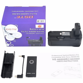 DSTE VG-6300RC Vertical Battery Grip + Romote Control for Sony A6300 A6000 DSLR Camera