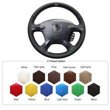 Black Artificial Leather Car Steering Wheel Cover for Honda CRV 2003 2004 2005 2006