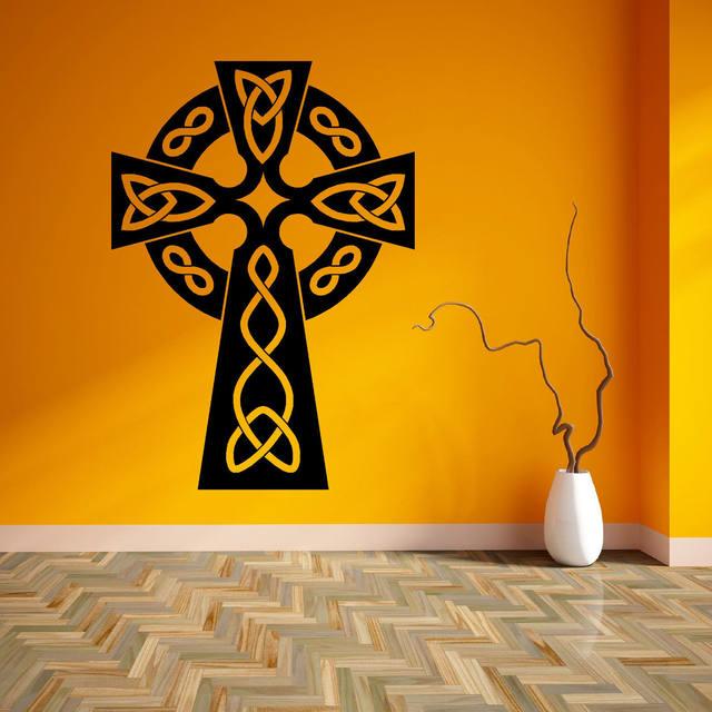 Online Shop D190 CELTIC CROSS SYMBOLIC RELIGIOUS SPIRITUAL Vinyl ...