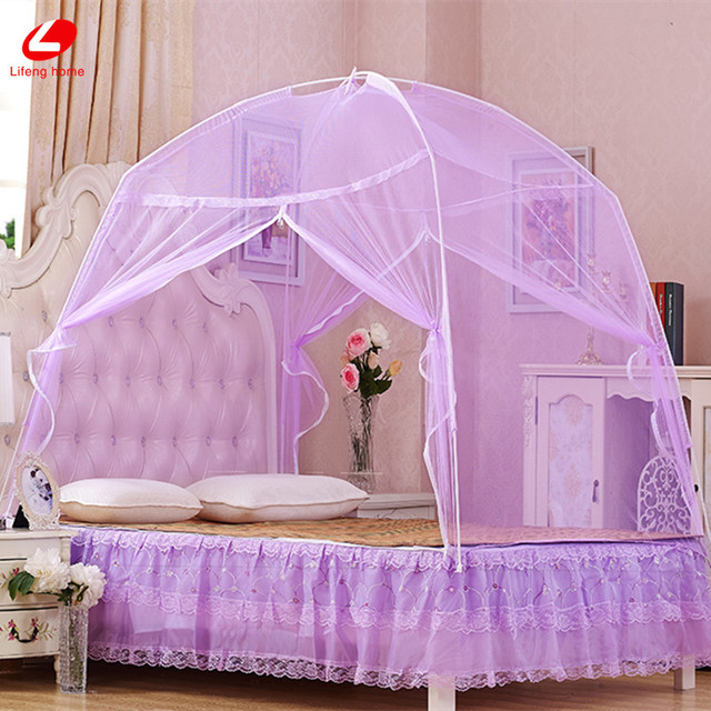 Lifeng home Mongolian Yurt Mosquito Net 150*200cm Insecticide Treated mesh New bed curtaion easy install mosquito curtain Net