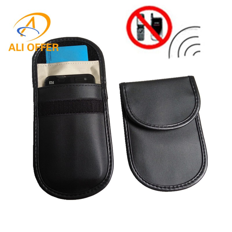 US $3 82 |3G 4G Mobile Cellular Cell Phone RF Signal Shielding Blocker  Jammer Pouch,ID Card/Bank Cards/Remote Car Keyless Protection Bag-in Phone