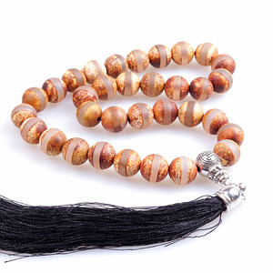 Image 5 - 10MM Natural Stone Brown Frost Handcrafted Islamic Prayer Beads (33 Beads) Muslim Tasbih Allah Mohammed Rosary for women men